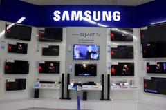 Tevês de Samsung Smart Fotografia de Stock Royalty Free