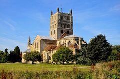tewkesbury abbey Arkivfoto