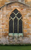 Tewkesbury Abbey, England, Architectural detail. Of Facade, Archways and Windows royalty free stock images