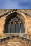 Tewkesbury Abbey, England, Architectural detail. Of Facade, Archways and Windows stock photo