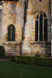 Tewkesbury Abbey, England, Architectural detail. Of Facade, Archways and Windows royalty free stock photos