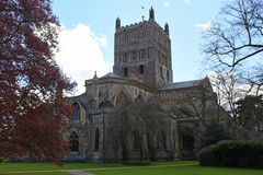 Tewkesbury Abbey, Gloucestershire, England. Tewkesbury Abbey in Gloucestershire, England was built in the 12th Century and is a parish church and a former Royalty Free Stock Photos