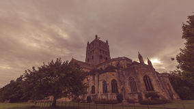 Tewkesbury Abbey South View F photo libre de droits