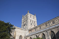 Tewkesbury abbey tower Royalty Free Stock Photos
