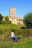 Tewkesbury Abbey. Stock Image