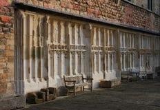 Tewkesbury-Abtei, England, Architekturdetail Stockbilder