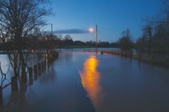 Tewkesbury  floods Dawn Royalty Free Stock Photography