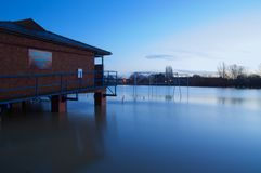 Tewkesbury  floods Dawn Stock Photo