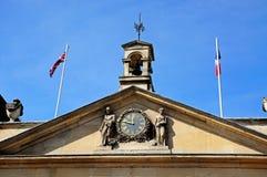 Tewkesbury Town Hall clock. Stock Photo