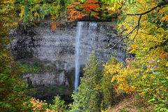 Tews Falls in Hamilton, Ontario autumn scene. Royalty Free Stock Photos