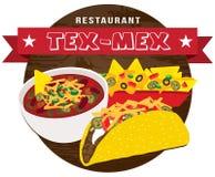 Tex mex food banner vector Royalty Free Stock Photos