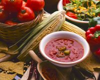 Tex Mex Food. Hot chilli sauce. Tex Mex Food. Mexican Hot Chilli Sauce Stock Images