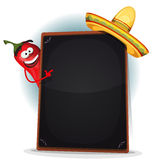 Tex Mex Menu With Chili Pepper And Sombrero Royalty Free Stock Images