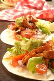 Tex mex tacos or tortillas from mexico background Royalty Free Stock Image