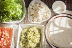 Tex mex tortilla table Stock Images
