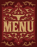 Tex Mex vector Restaurant menu design Stock Image