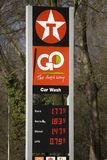 Texaco filling station, Eindhoven, The Netherlands Royalty Free Stock Image