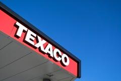 Texaco het van letters voorzien bij benzinestation royalty-vrije stock fotografie