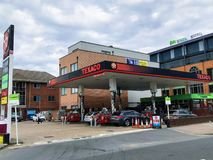 Texaco petrol station royalty free stock images