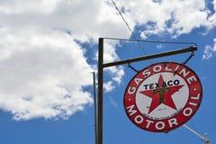 Texaco Sign an American oil. Royalty Free Stock Photos
