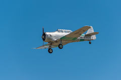 AT-6 Texan Against Blue Sky Stock Images