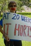 Texan anti-Abortus Protestor stock foto