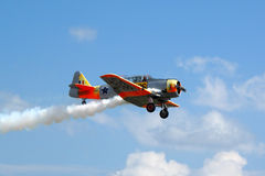 Texan de Warbird AT6 en vol Photos stock