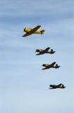 Texan et Fly-By de groupe de Nan-Tchang Image libre de droits