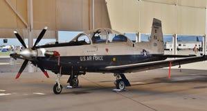 Texan f?r flygvapen T-6 II arkivbilder