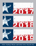 Texan Flag Independence day timeline cover - Artistic Brush. Vector illustration. Texan Flag Independence day timeline cover - Artistic Brush Strokes and Stock Photography