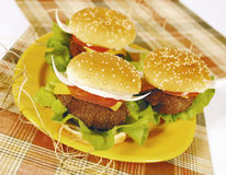 Texan Hamburgers Royalty Free Stock Photo