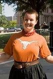 Texan Pro-Choice Protestor Royalty Free Stock Photo