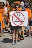 Texan pro-Keus Protestor Royalty-vrije Stock Foto's