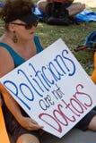 Texaner für das Recht auf Abtreibung Protestor Stockbild