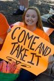 Texaner für das Recht auf Abtreibung Protestor Lizenzfreie Stockfotografie