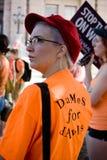 Texaner für das Recht auf Abtreibung Protestor Stockfoto