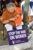 Texaner für das Recht auf Abtreibung Protestor Lizenzfreies Stockbild