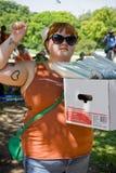 Texaner für das Recht auf Abtreibung Protestor Lizenzfreies Stockfoto