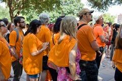 Texaner für das Recht auf Abtreibung Protestors Stockbild