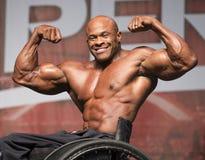 Texaner gewinnt Rollstuhl-Bodybuilding-Titel in Toronto Lizenzfreie Stockfotos