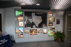 Texarkana Texas Welcome Center Display Image libre de droits