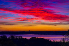 Texas湖日出 免版税库存照片