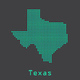 Texas abstract dots state map. Dotted style. Royalty Free Stock Images