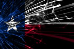 Texas abstract fireworks sparkling flag. New Year, Christmas and National day concept. United States of America.  royalty free stock images