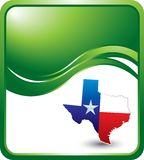 Texas ad template. Texas state on green wave background Royalty Free Stock Image