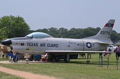 Texas Air Guard F-86D airplane Stock Images