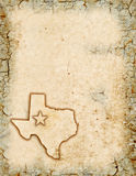 Texas Background. Grunge background of a Texas map Royalty Free Stock Photos