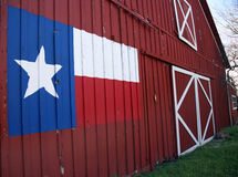 Texas Barn. View of front of an old barn with State Flag of Texas painted on it royalty free stock photo
