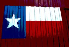 Texas Barn. State flag of Texas painted on the side of an old barn in a public park Stock Images