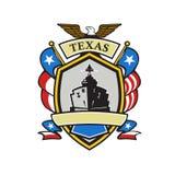 Texas Battleship Emblem Retro Stock Photos